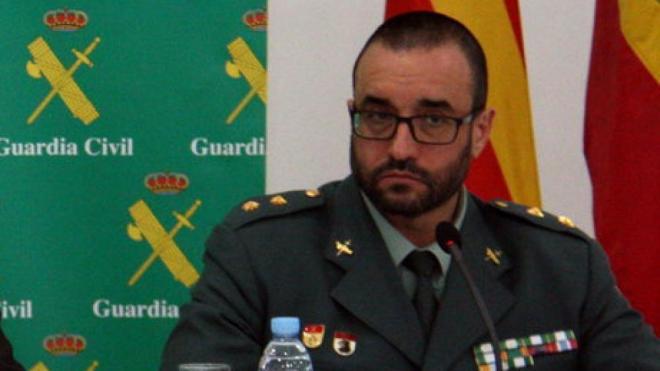 El comandant en cap de la Policia Judicial de la Guàrdia Civil a Catalunya, Daniel Baena