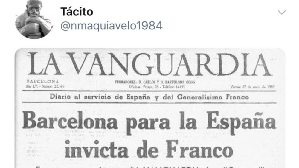 Una piulada i una interacció del perfil anomenat Tácito