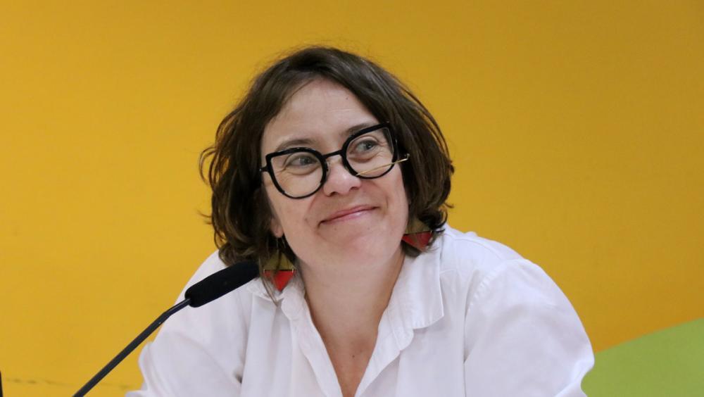 La regidora de la CUP a Barcelona Eulàlia Reguant, ahir en la presentació del recurs al Suprem