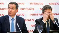 Els directius de Nissan Gianluca de Ficchy i Genís Alonso (a la dreta), durant la roda de premsa d'ahir