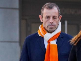 Sandro Rosell, acudint a l'Audiencia Nacional