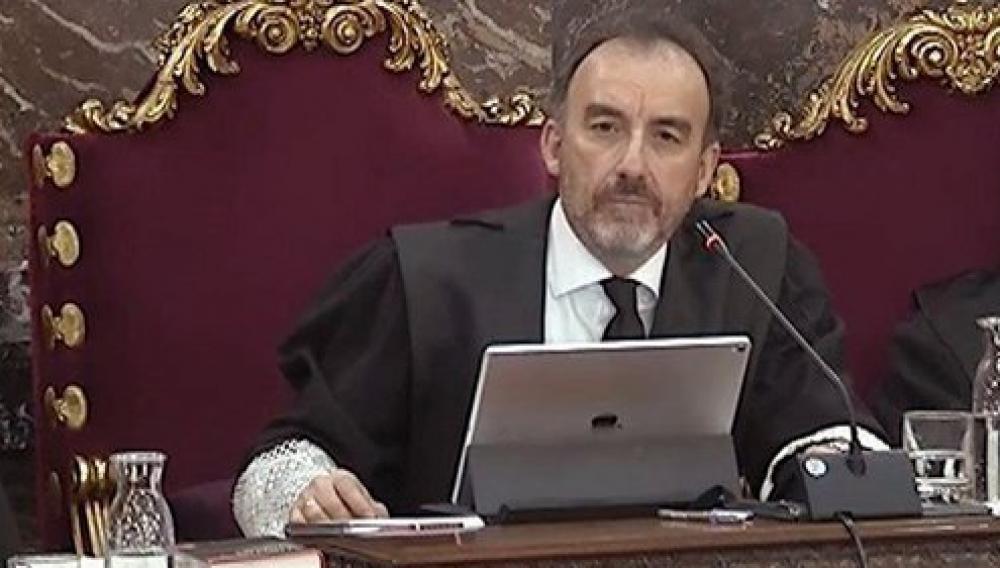 Manuel Marchena, en un moment de la 33a sessió del judici al Suprem
