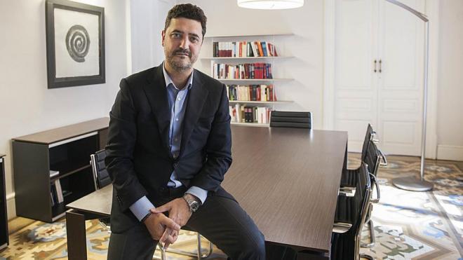 Mariano Bergés, al seu despatx de Barcelona