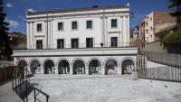Una imatge de la plaça 1 d'Octubre d'Arbúcies, fa dues setmanes. El consistori l'ha obert al públic.
