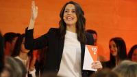 Inés Arrimadas al míting de Salou