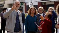 La cap de llista del PSC al 28-A, Meritxell Batet, amb el cap de llista del PSC per Tarragona, Joan Ruiz