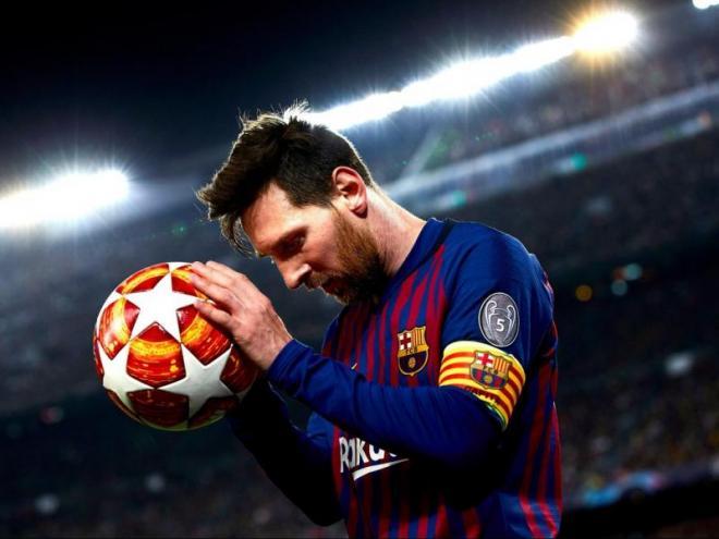 Leo Messi va liderar l'equip en el partit contra el Manchester United al Camp Nou