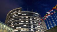 Vista exterior de la seu del Parlament Europeu a Estrasburg