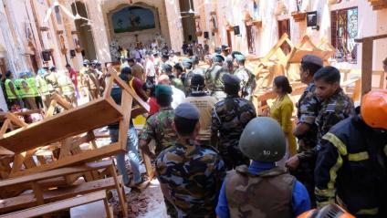 La policia informa que almenys hi ha hagut vuit explosions la majoria a la capital Colombo