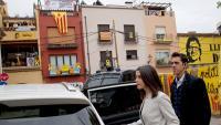 La cap de llista de Cs per Barcelona entra al cotxe després de finalitzar l'acte central de la formació taronja a les comarques gironines