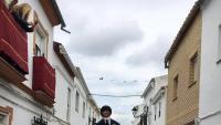 El ninot de Puigdemont, abans de l'execució