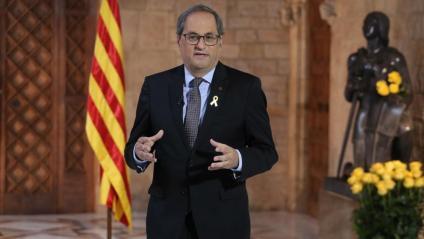 """El president Torra crida a renovar la lluita """"pel retorn i la victòria de la llibertat"""" en el seu discurs de Sant Jordi"""
