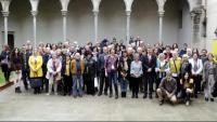 Imatge del tradicional esmorzar del món literari i editorial de les comarques gironines