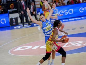 Hampton i Vilaró en l'anterior semifinal, a Vitòria