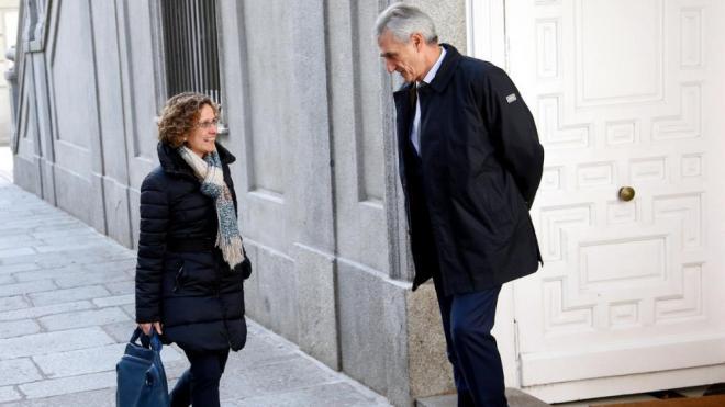 Meritxell Ruiz, exconsellera d'Educació, arribant avui al Suprem