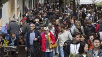 La Rambla de Girona, un anar i venir de gent