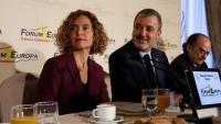 La candidata del PSC, Meritxell Batet, amb Jaume Collboni aquest matí