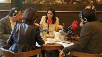 La candidata de Ciutadans, Inés Arrimadas, durant l'entrevista