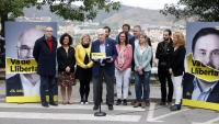 Maragall i altres alcaldables republicans, ahir al barri del Carmel de Barcelona