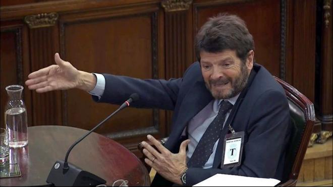 Albert Batlle, en la seva declaració com a exdirector general dels Mossos, ahir en el judici al Suprem