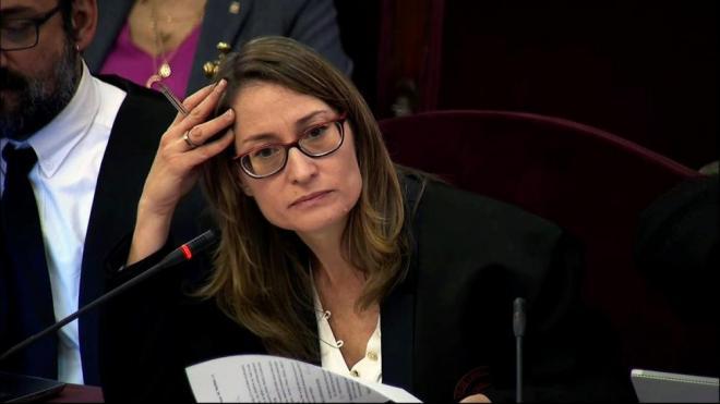Marina Roig, advocada de Jordi Cuixart, avui durant el judici