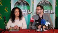 Els responsables de l'associació de guàrdies civils Jucil, Milagros Civico i Cristian Eric Marco