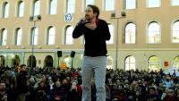 El cap de llista de Podem, Pablo Iglesias