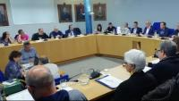 Un moment de la sessió plenària de condemna de l'assassinat, ahir al vespre