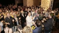 Al centre cultural La Mercè es va fer ahir el darrer gran míting de campanya d'Esquerra a les comarques gironines