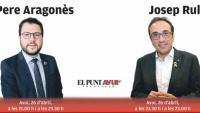 Aragonès i Rull, avui divendres a El Punt Avui TV