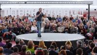 El candidat d'Unides Podem en un acte a Valladolid