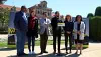 Joan Josep Nuet i altres membres de la candidatura d'ERC al Congrés