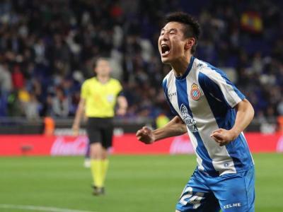 Wu Lei va avançar l'Espanyol però el seu gol va ser insuficient per guanyar
