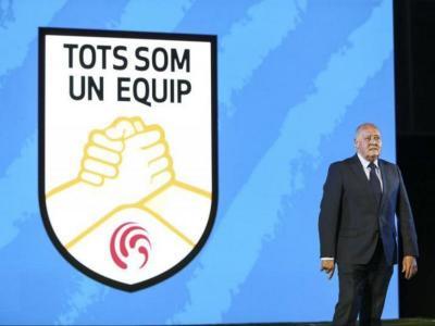 Joan Soteras, en un acte de la Federació Catalana aquest curs