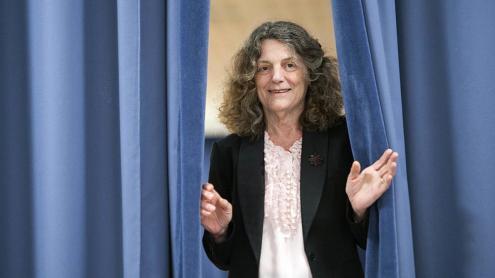 La psicoanalista francesa, fotografiada a la Universitat Pompeu Fabra