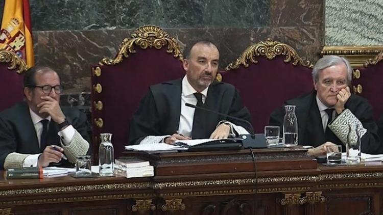 El jutge Manuel Marchena i altres membres del tribunal