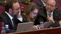Benet Salellas, Marina Roig i Àlex Solà formen part de l'equip de defensa de Jordi Cuixart