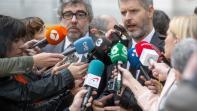 Jordi Pina i Andreu van den Eynde durant una roda de premsa