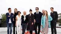 El cineasta banyolí Albert Serra i el seu equip, ahir al Festival de Canes