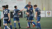 Els jugadors del Llagostera celebren un gol en les últimes jornades