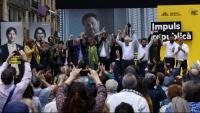 Els republicans van reunir tots els seus principals dirigents, candidats i càrrecs institucionals en el míting central d'ahir a Barcelona