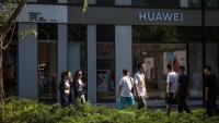 Una botiga de Huawei a Pequín