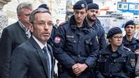 Herbert Kickl, ministre de l'Interior i membre de l'ultradretà Partit de la Llibertat d'Àustria, ahir, a Viena
