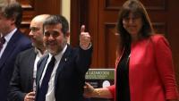 Els diputats de JxCat al Congrés, Jordi Sànchez i Laura Borràs
