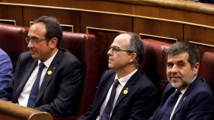 Josep Rull, Jordi Turull i Jordi Sànchez, al Congrés