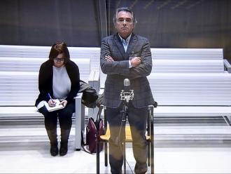 Santiago Espot, declarant a l'Audiencia Nacional l'any 2017. Un any més tard va quedar absolt