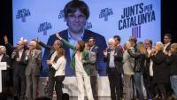 Madrenas i Puigdemont van rebre el suport de Torra, el senador Jami Matamala i altres membres de JxCat