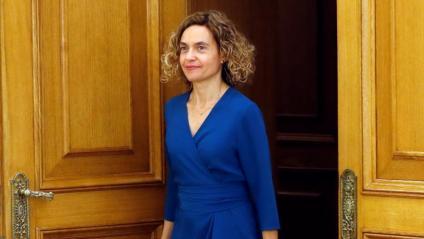 La presidenta del Congrés, Meritxell Batet, aquest dimecres al Palau de la Zarzuela