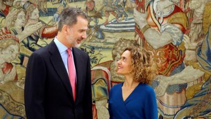 Felip VI va rebre ahir Batet per primer cop a La Zarzuela com a presidenta del Congrés