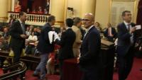 El senador Raül Romeva, al Senat, dimarts passat